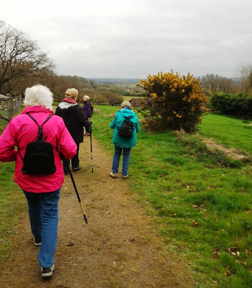 Our walking group meets every month